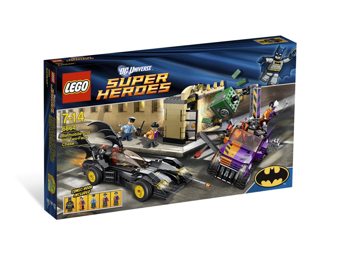 6864 Бэтмен против Двуликого (Бэтмобиль) Конструктор ЛЕГО Супергерои