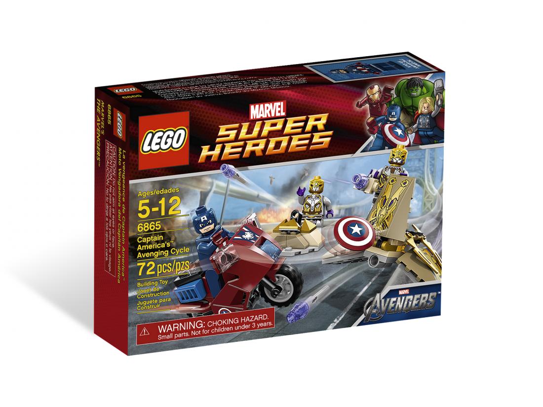 6865 Капитан Америка: Мотоцикл Капитана Америки Конструктор ЛЕГО Супергерои