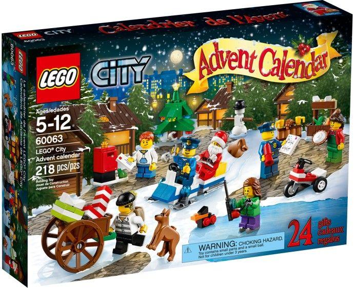60063 Рождественский календарь-2014. Конструктор ЛЕГО Город Lego City