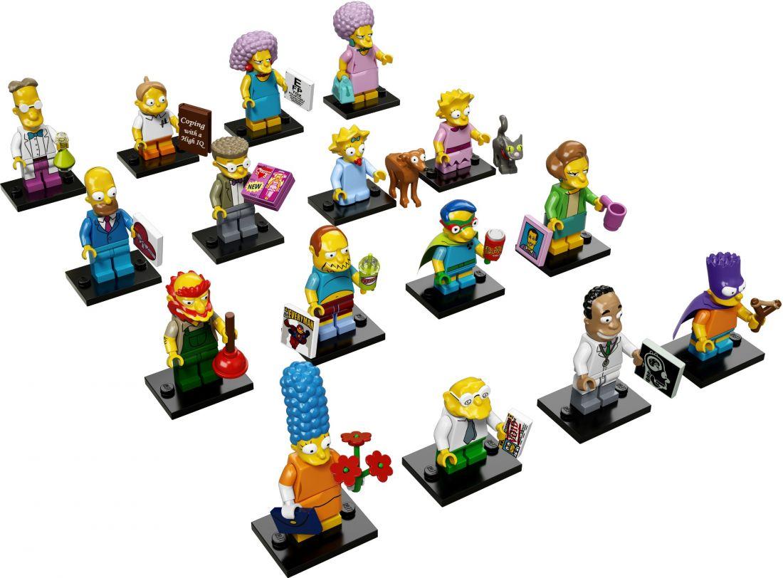 71009-17 Коллекционные Минифигурки Симпсоны 2 серия (Полный Комплект из 16 фигурок)