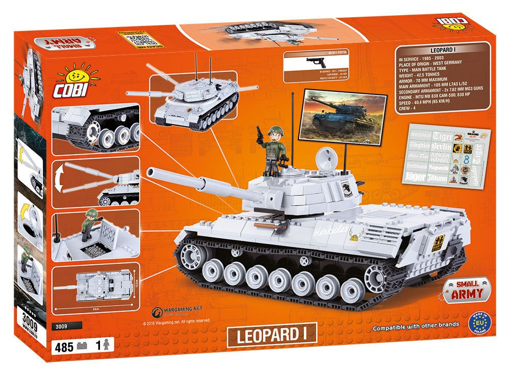КОБИ World of Tanks - Танк Леопард 1 COBI-3009