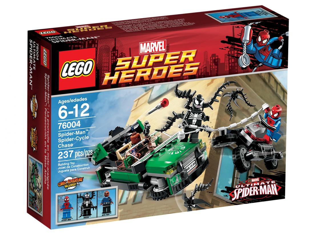76004 Погоня на Спайдерцикле Конструктор ЛЕГО Супергерои