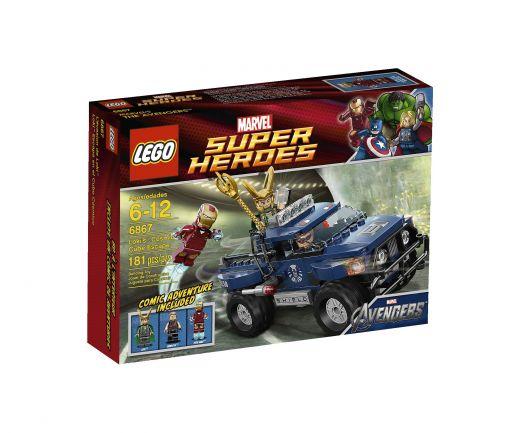 6867 Железный человек: Побег Локи с Космическим Кубом Конструктор ЛЕГО Супергерои