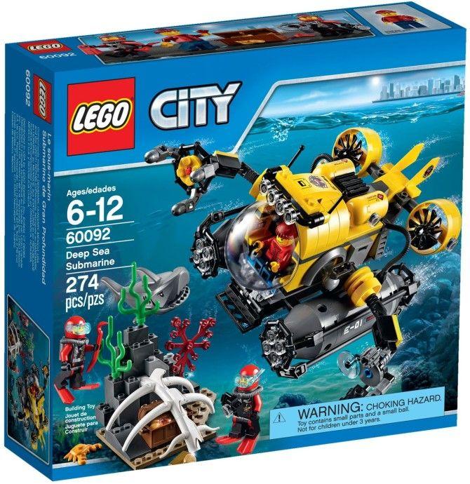 60092 Глубоководная подводная лодка. Конструктор ЛЕГО Город Lego City