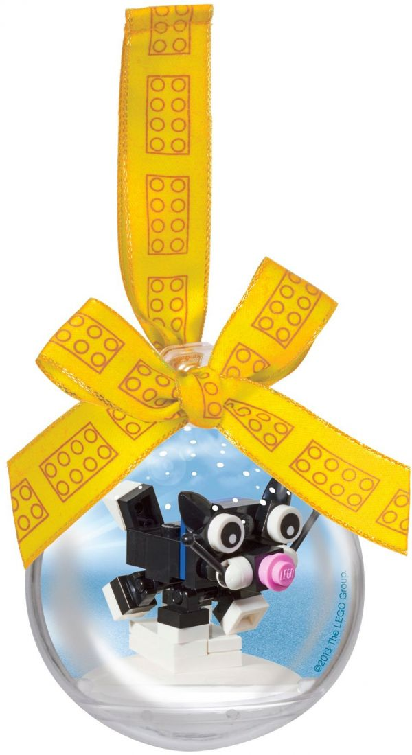 850950 Ёлочная игрушка Котёнок в шаре Конструктор ЛЕГО