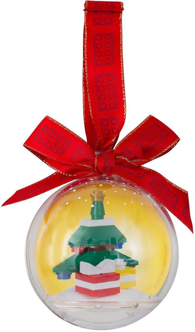 Ёлочная игрушка Ёлка в шаре. Конструктор ЛЕГО 850851