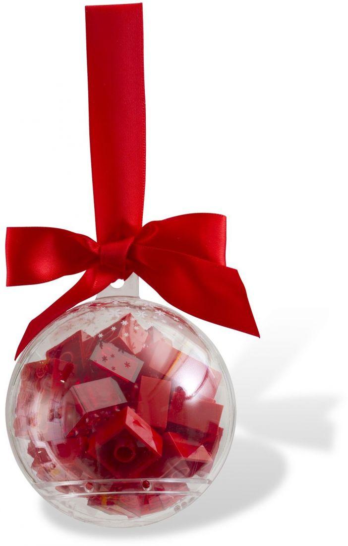 Ёлочная игрушка Шар с красными кубиками. Конструктор ЛЕГО 853344