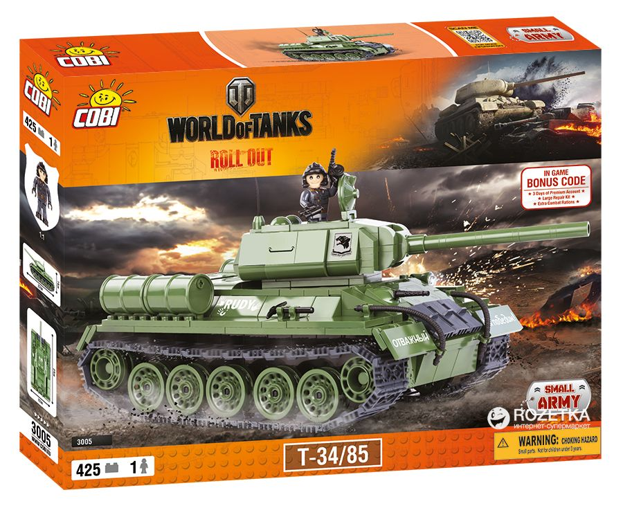 КОБИ World of Tanks - Танк Т34/85 COBI-3005